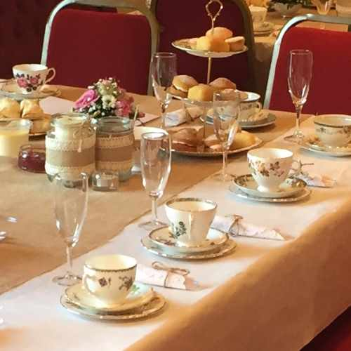 just wright catering afternoon tea china cups teapots