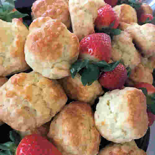 strawberries scones wake funeral buffet